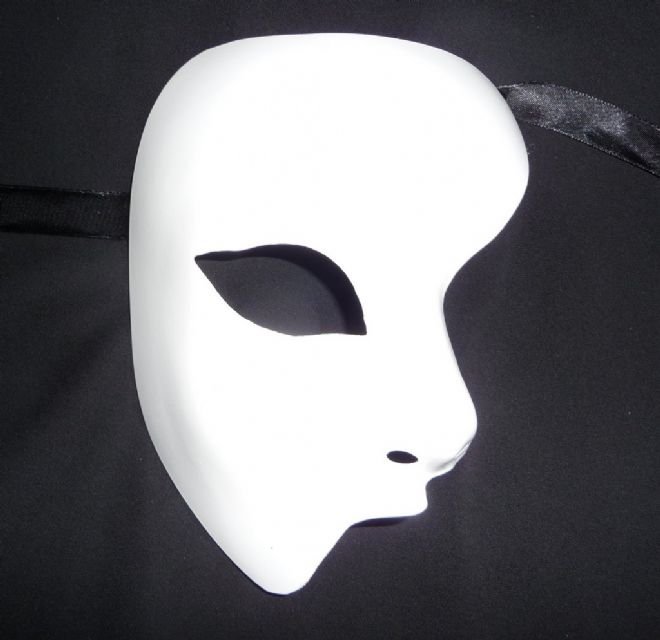 Genuine Venetian White Phantom Mask